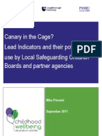 Canary in the Cage Mike Pinnock UK Dept Education Child Protection Report Sept 2011