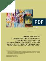 Luisa Cano Articulo Gobernabilidad y Gobernanza en Medellin