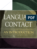 Language Contact an Introduction