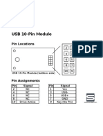 USB 10-Pin Module Pin Information