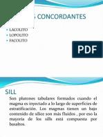PLUTONES CONCORDANTES