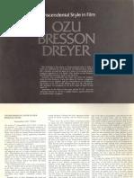 Paul Schrader on Ozu