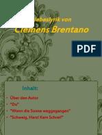 Clemens Brentano- Liebeslyrik