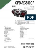 Diagrama de Radiograbadora Sony CFD-RG880CP