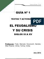 Guía 1 Feudalismo 2013