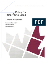 Housing Policy for Tomorrow's Cities, Hulchanski 2002