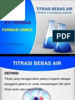 Titrasi Bebas Air