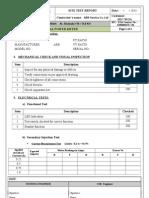 Digital Power Meter Test Formate