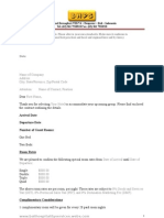 Guest Group Contract Rate Template