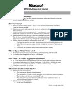 MOAC Virtual Lab FAQ Instructor