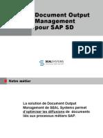 SAP SD Génération et distribution de dossiers de Vente