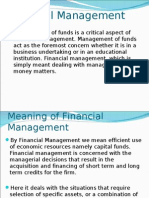 Financial Management, scope, objectives and types of finances