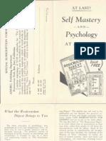 AMORC - At Last Self Mastery and Psychology at a Glance (1942).pdf
