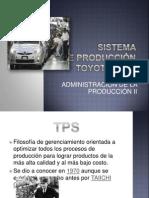 Tps Sistema de Produccion Toyota