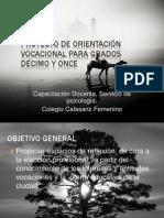 Proyecto Orientacion v. Grado 11