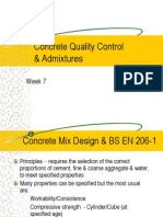 Week 7 Concrete Quality Control & Admixtures