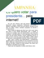 Eu Quero Votar Para Presidente Pela Internet