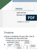 Chpt 12 Verb Tenses
