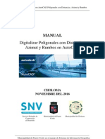 Digitalizar Poligonales Con Distancias, Azimut y Rumbos en AutoCAD