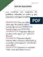 Clases de Oraciones Ficha Nc2ba 6 Lengua