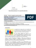 Historia demografía  electivo, Guía 1, 3º medio
