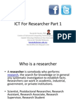 Web 2.0 for Researchers Part 1