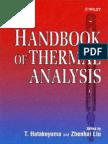 Handbook of Thermal Analysis (1999,0471983632,T. Hatakeyama, Liu Zhenhai)