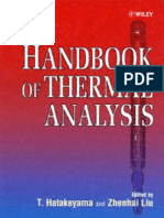 Handbook of Thermal Analysis (1999,0471983632,T. Hatakeyama, Liu Zhenhai)