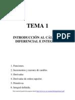 Introduccion al Cálculo Diferencial e Integral