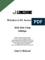 Longshine WA5 40P Manual Eng