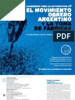 Cuadernos Para La Autogestion - El Movimiento Obrero Argentino y La Toma de Fabricas