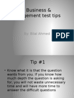 IB Business & Management Test Tips