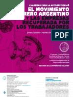 Cuadernos Para La Autogestion - El Movimiento Obrero Argentino y Las Empresas Recuperadas Por Sus Trabajadores