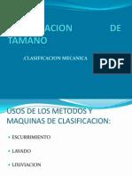 CALSIFICACION Y REDUCCION  DE TAMAÑO