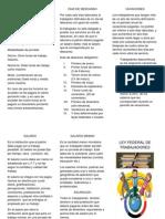 Ley Federal de Trabajadores (Triptico)