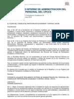 6. Reglamento interno de administración del personal del CPCCS