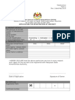 DGTA-REG 1 Aircraft Registration Form