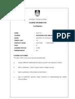 Syllibus ECG 721 (Advance Soil Mechanics) ACA OFF