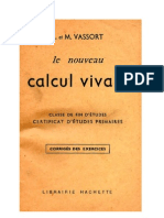Mathématiques Classiques Le Calcul Vivant Certificat d'Etude 02 L et M Vassort Livre du Maitre
