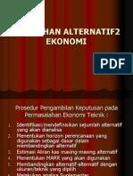 PEMILIHAN ALTERNATIF2  EKONOMI