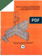 Manual para la construcción de viviendas de un piso con bloques de concreto