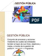 LA GESTIËN P+BLICA TRAB. DE DERECHO