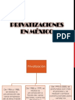 Privatizaciones en México