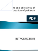 Aims and Objectives of Creation of Pakistan