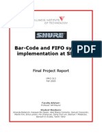 Barcode and FIFO Systems Implementation at SHURE IPRO 313 Final Report F05