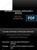 Teaching Strategies, Approaches, And Methods