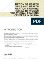 Evaluation of Health Skills and Health Education Training