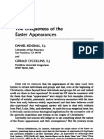 the Uniqueness of Easter Appearances