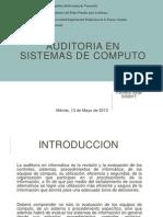 Auditoria de Sistemas de Computo
