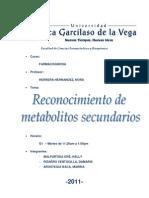 Informe 2 Fcgs Reconocimiento de Metabolitos